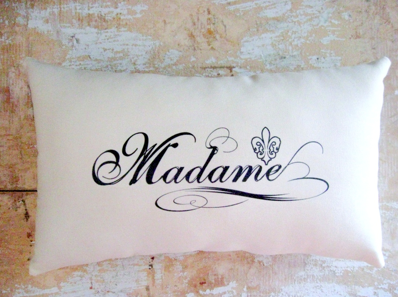 Madame Pillow French Country Home Paris Decor French