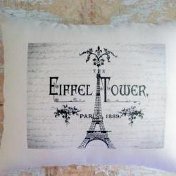 Eiffel Tower Pillow, French Country Home, Cottage Decor, Paris